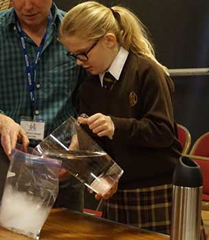 safe explosion experiment - Hilary's School, Godalming