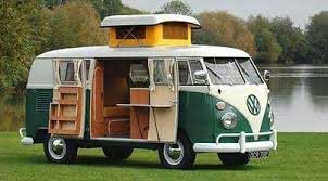 VW camper van - camping with frozen food