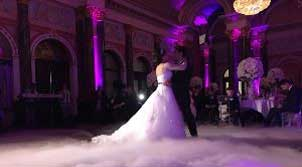 first dance wedding dance on cloud effect