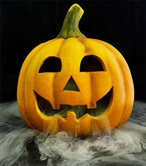Halloween Jack O Lantern Pumpkin With Dry Ice Fog Breathing Scary Halloween Dry Ice Fog